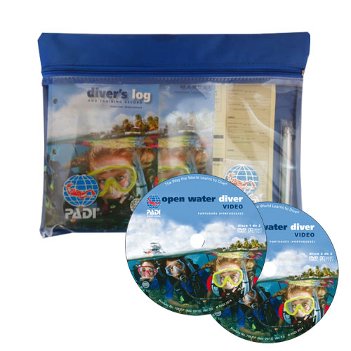 Open Water Crew-Pack, with Table, Blue LogBook, Metric and DVD  (61317- Português)